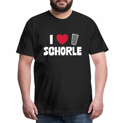 I love Schorle & Dubbe Schobbe - Männer Premium T-Shirt