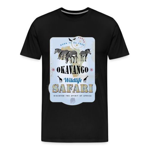 Zebras Wildlife Safari Okavango Botswana Afrika - Männer Premium T-Shirt