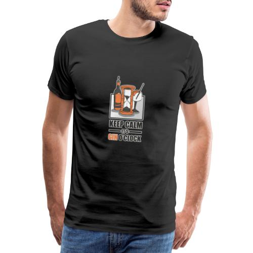 Gin T-Shirt Keep Calm its GIN o´clock - Männer Premium T-Shirt