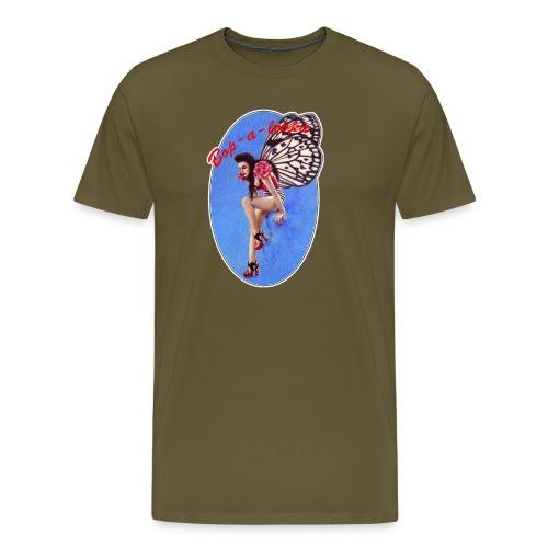 Vintage Rockabilly Butterfly Pin-up Design - Men's Premium T-Shirt