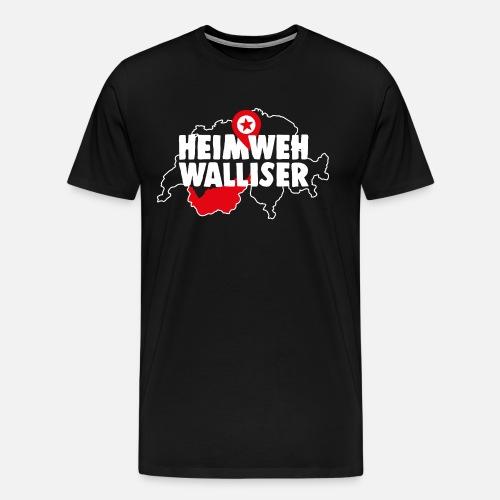 HEIMWEH WALLISER - Männer Premium T-Shirt