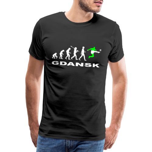 Ewolucja piłka nożna Gdansk wh - Koszulka męska Premium
