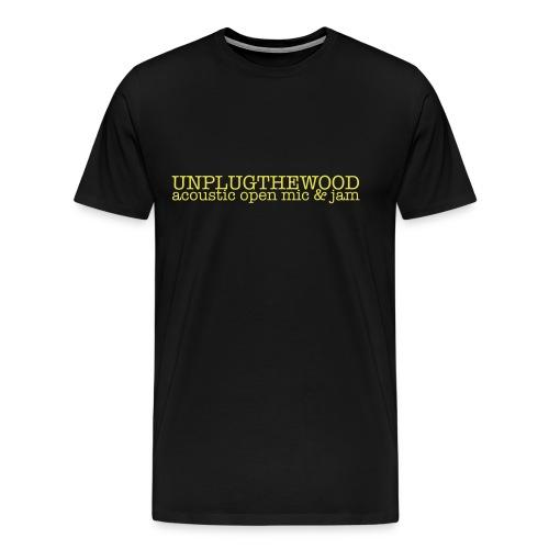 Unplug The Wood letterbox - Men's Premium T-Shirt