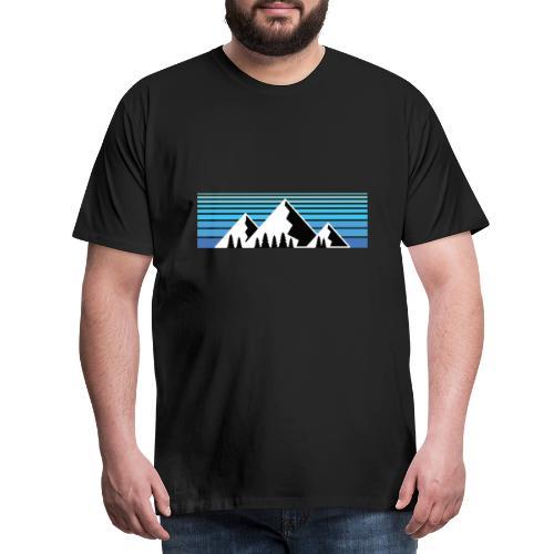 Berge im Sonnenaufgang Bergshirt & Natur Design - Männer Premium T-Shirt