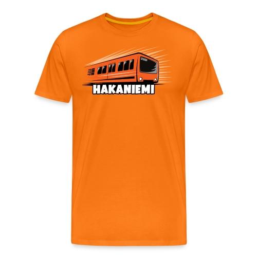 13- METRO HAKANIEMI - HELSINKI - LAHJATUOTTEET - Miesten premium t-paita