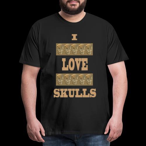 J'AIME LES TÊTES DE MORT - T-shirt Premium Homme