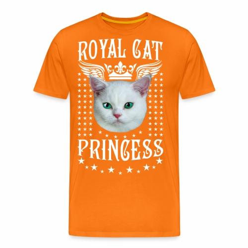 26 Royal Cat Princess white feine weiße Katze - Männer Premium T-Shirt