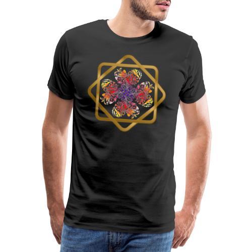 Kleeblatt aus Herzen Octagram - Glück Liebe Sicher - Männer Premium T-Shirt