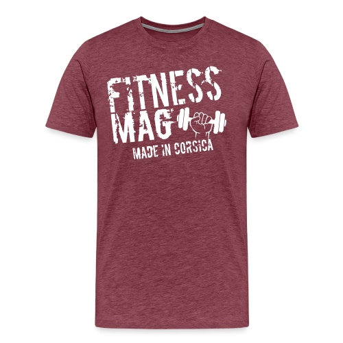 Fitness Mag made in corsica 100% Polyester - T-shirt Premium Homme