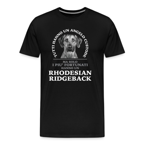 Rhodesian Ridgeback Angelo Custode Nero - Maglietta Premium da uomo