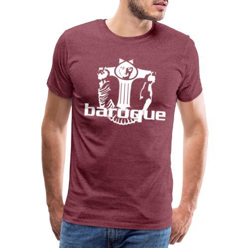 Baroque Records Logo Black - Männer Premium T-Shirt