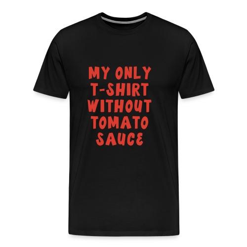 T-Shirt mit Tomatenfleck Tomaten Sauce - Männer Premium T-Shirt
