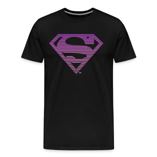 DC Comics Superman Gestreiftes Logo Farbverlauf - Männer Premium T-Shirt