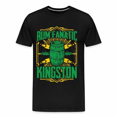 T-shirt Rum Fanatic - Kingston, Jamajka - Koszulka męska Premium