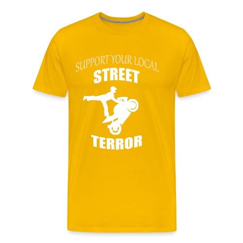 Streetterror Support - Miesten premium t-paita