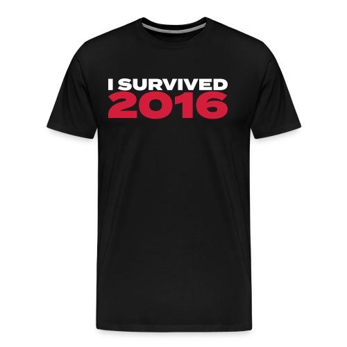 I survived 2016 weiss - Männer Premium T-Shirt
