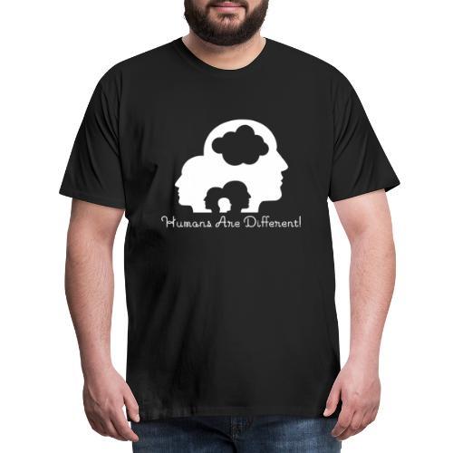 Humans are different weiß - Männer Premium T-Shirt