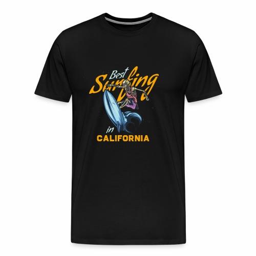 Surfing in California - Männer Premium T-Shirt