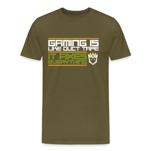 Gaming is like duct tape - Men's Premium T-Shirt