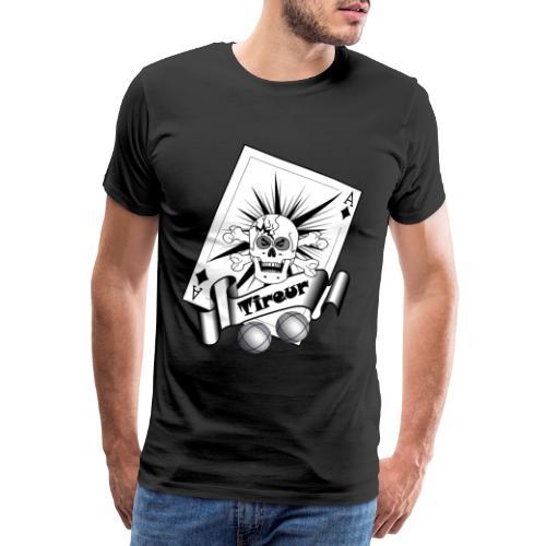 t shirt petanque tireur crane carreau boules - T-shirt Premium Homme