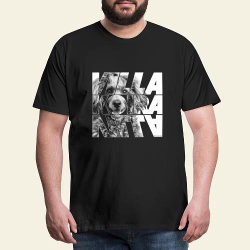 Villakoira Nassu II - Miesten premium t-paita