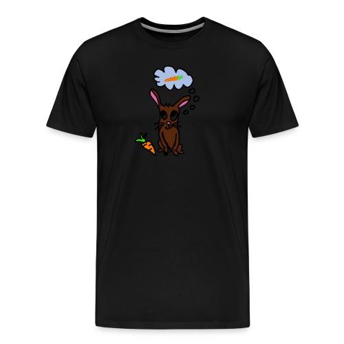 Hase mit Karotte träumt - Männer Premium T-Shirt