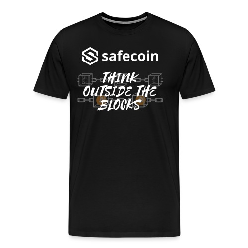 Safecoin Think Outside the Blocks (white) - Men's Premium T-Shirt