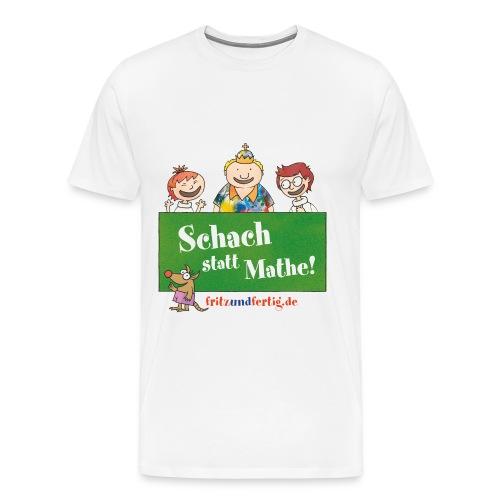 Schach statt Mathe - Männer Premium T-Shirt