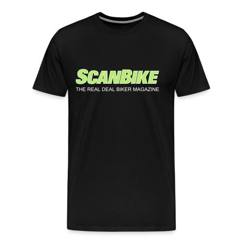 ScanbikeGreen&white - Premium T-skjorte for menn