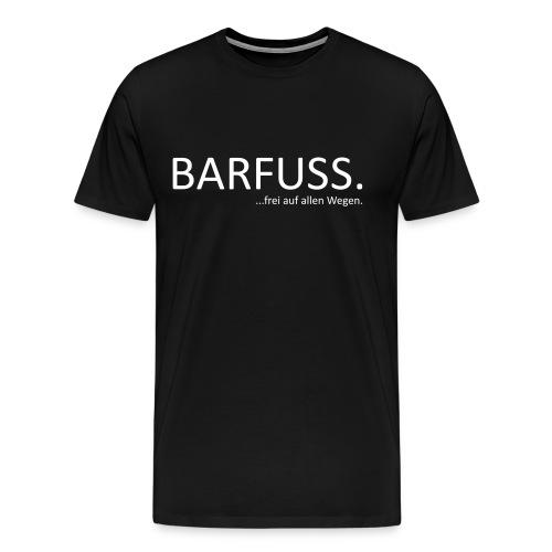 Barfuss_frei_Weiß_Trans - Männer Premium T-Shirt