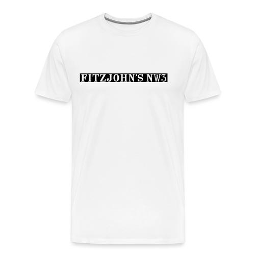 Fitzjohn's NW3 black bar - Men's Premium T-Shirt