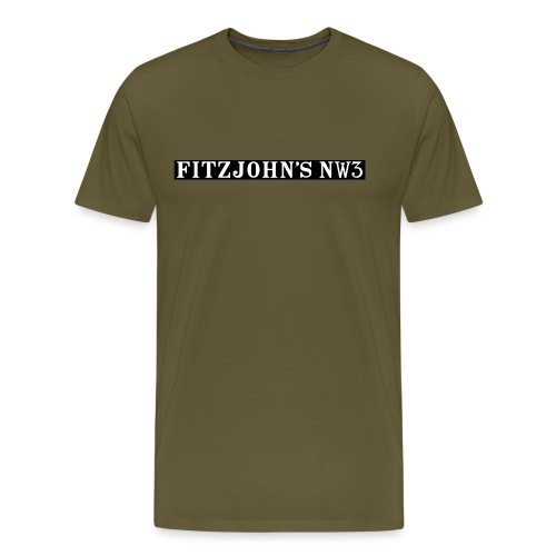 Fitzjohn's NW3 black bar - Men's Premium T-Shirt