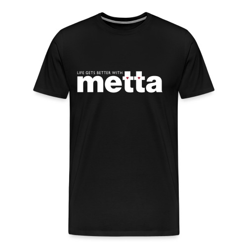 METTA_WHITE - Men's Premium T-Shirt
