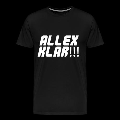 Allex Klar!!! - Logo - Männer Premium T-Shirt