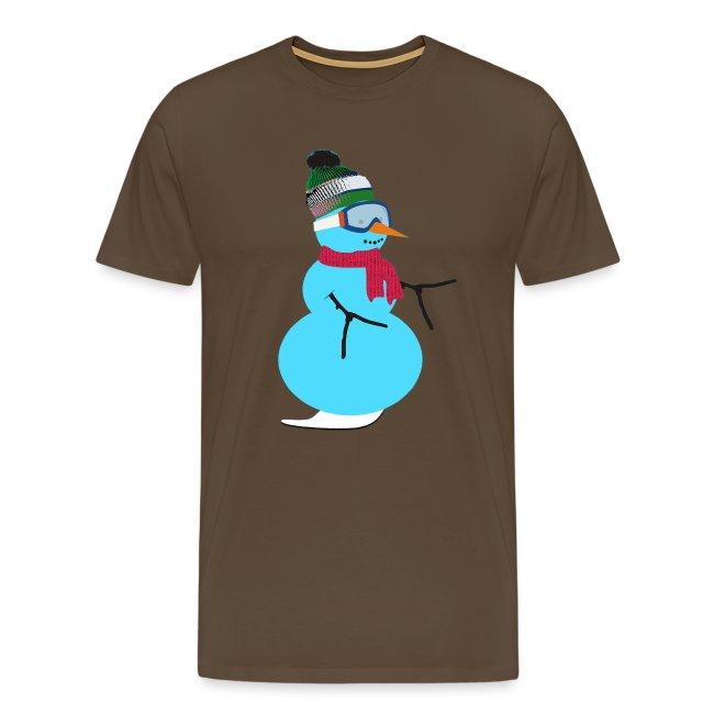 Snowboarding snowman