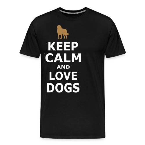 KEEP CALM AND LOVE DOGS - Simple - Männer Premium T-Shirt