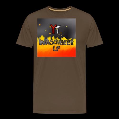 Waschbeer Design 2# Mit Flammen - Männer Premium T-Shirt