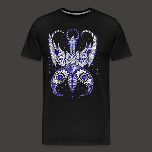 Papillon Lilou Bleu - T-shirt Premium Homme