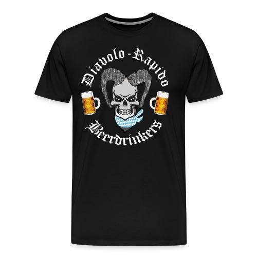 Diabolo-Rapido-Beerdrinkers - Männer Premium T-Shirt