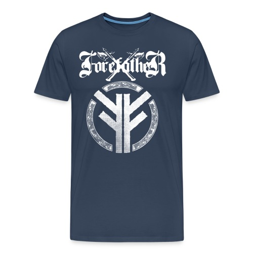 Forefather logo and symbol white - Men's Premium T-Shirt