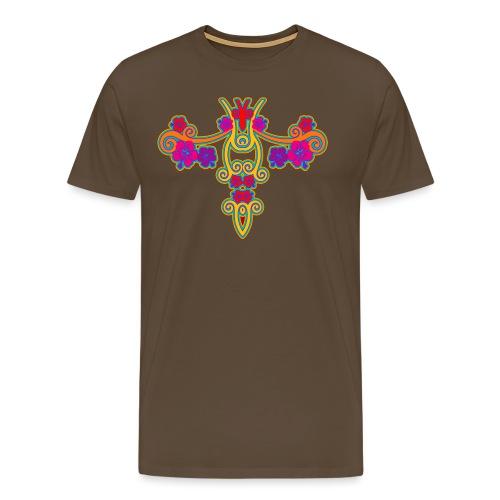 Hibiscus Spiralen - Männer Premium T-Shirt