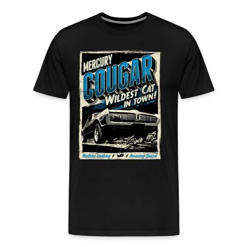 Mercury Cougar 1968 blau - Männer Premium T-Shirt