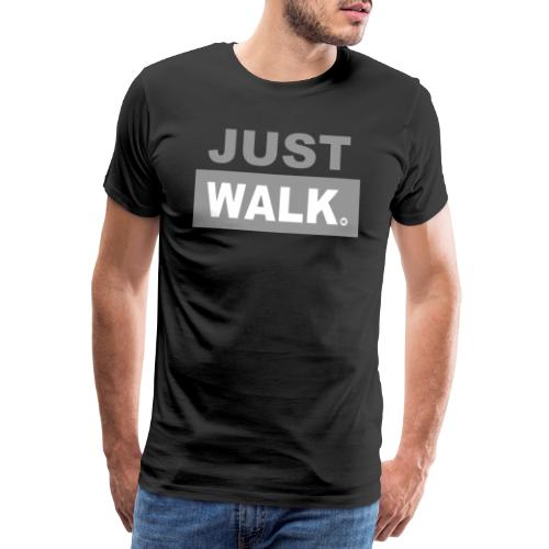 JUST WALK mannen grijs - Mannen Premium T-shirt