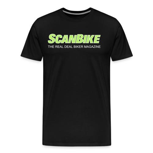 ScanbikeGreen&white - Premium-T-shirt herr