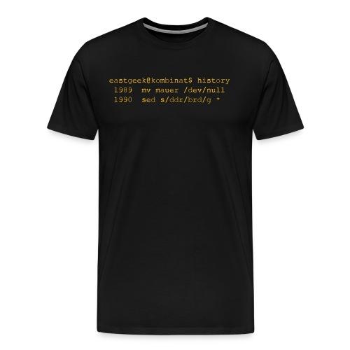 1989 mv mauer /dev/null - Männer Premium T-Shirt