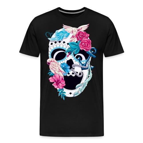 Floral Skull - Männer Premium T-Shirt
