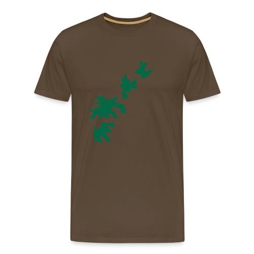 Green Leaves - Männer Premium T-Shirt