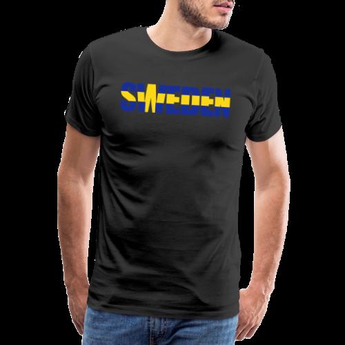 SWEDEN flaggtext - Premium-T-shirt herr