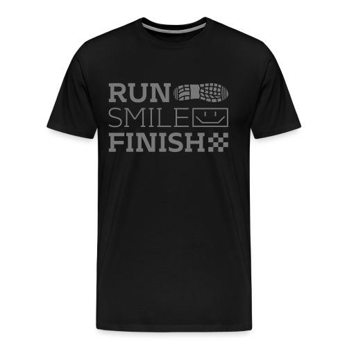 Run Smile Finish Marathon-Motto - Männer Premium T-Shirt