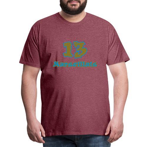 fier marseille blanc 03 - T-shirt Premium Homme